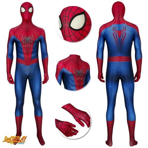 The Amazing Spider Suits Spider-Man Peter Paker Cosplay Costume