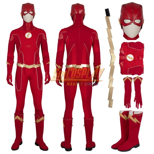 The Flash Cosplay Costumes Season 6 Barry Allen Costume Ver.2 Top Level