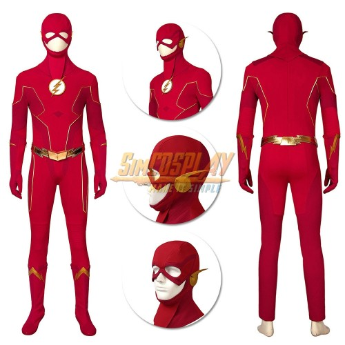 The Flash Cosplay Costumes Season 6 Barry Allen Suit Ver.3 Top Level