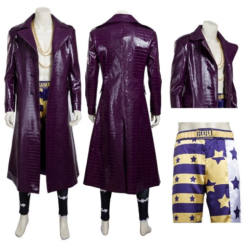 The Joker Cosplay Costume Suicide Squad Jared Leto Cosplay