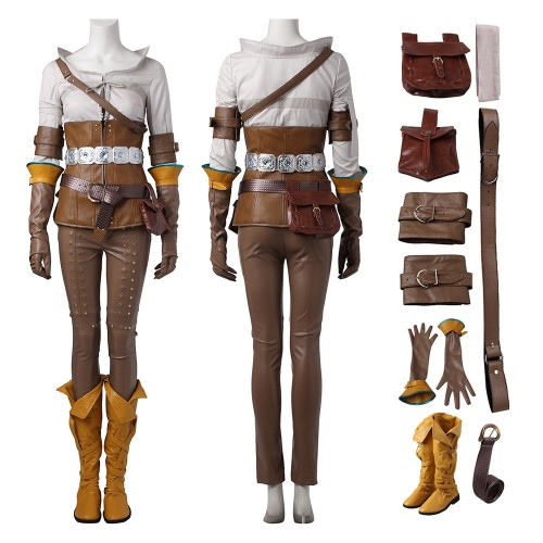 The Witcher 3 Wild Hunt Cirilla Cosplay Costume Top Level
