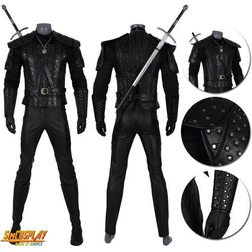 The Witcher Geralt Cosplay Costumes The Witcher TV Series Suit Top Level