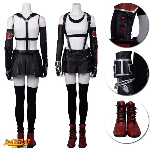 Tifa Cosplay Costumes Final Fantasy VII Remake Cosplay Suits Top Level
