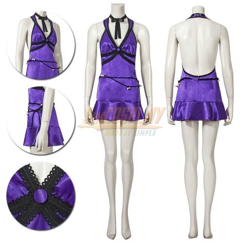 Tifa Purple Dress Final Fantasy VII Remake Tifa Mature Dress Cosplay Costume