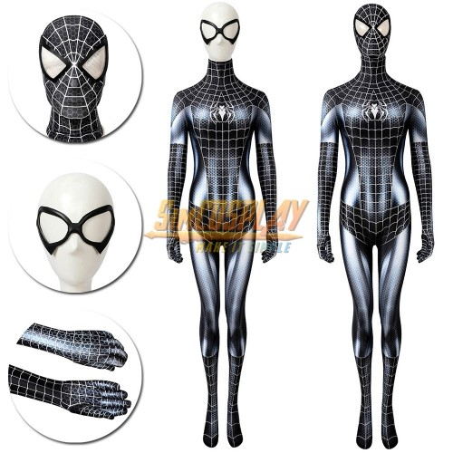 Venom Female Cosplay Suit Spider-man Venom Woman Cosplay Costume Spiderman Girls Suit