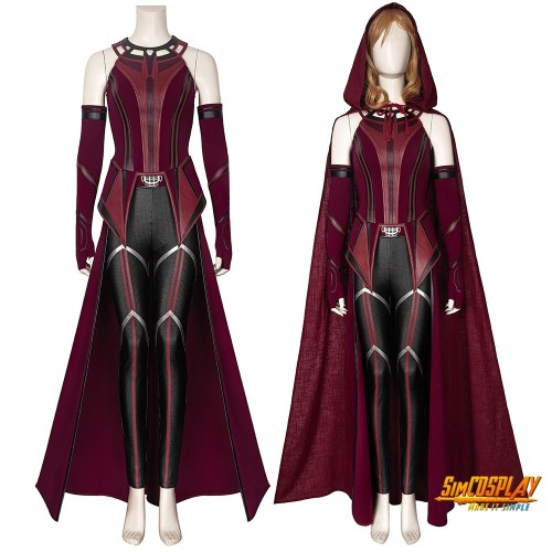 Wanda Cosplay Costume 2021 WandaVision New Scarlet Witch Suit New