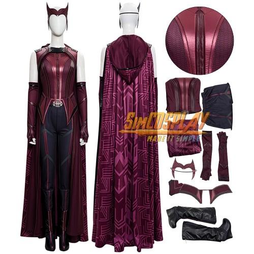 WandaVision Scarlet Witch Wanda Cosplay Costumes Top Level