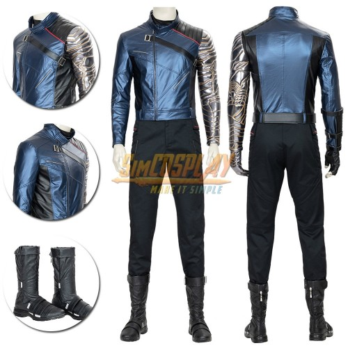 Winter Soldier Cosplay Costume The Falcon and the Winter Soldier Cosplay Suit