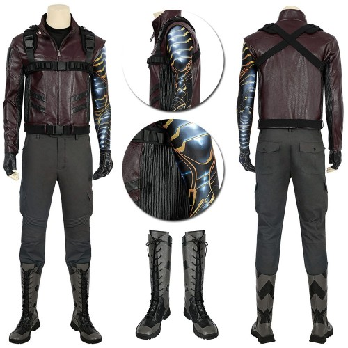 Winter Soldier Cosplay Costumes The Falcon and the Winter Soldier Bucky Barnes Suit