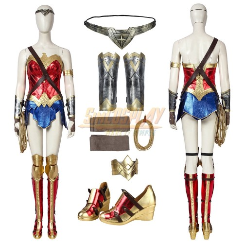 Wonder Woman Costume WW 1984 Diana Prince Classic Red Suit Promotion Edition
