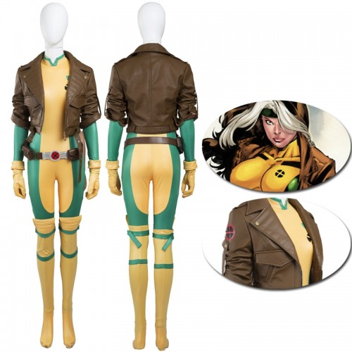 X-Men Rogue Anna Marie Comic Cosplay Costume sim1127xmram