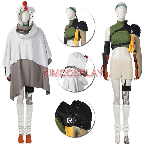Yuffie Cosplay Costume FF8 Remastered Intergrade Custom Size Supported Ver.2
