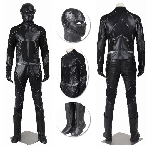 Zoom Costume Hunter Zolomon Reverse Flash Cosplay Black Suit