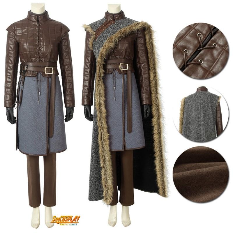 Game Of Thrones Season 8 Arya Stark Cosplay Costume Cloak