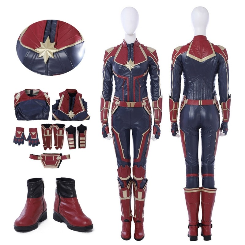Captain Marvel Carol Danvers Cosplay Costume Red Version Looks very cool, just like the charactor in film. usd