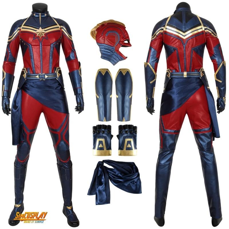 Endgame Captain Marvel Ms Avengers Marvel Zip Hooded Jacket Cosplay Costume