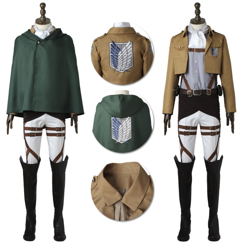 Levi Ackerman Cosplay Costume Attack On Titan Captain Levi