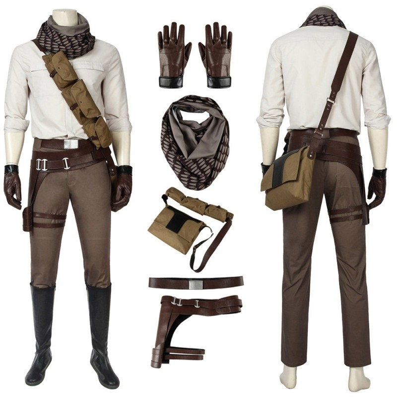 Poe Dameron Cosplay Costumes Star Wars9 The Rise Of Skywalker Suits Easy Use Edition