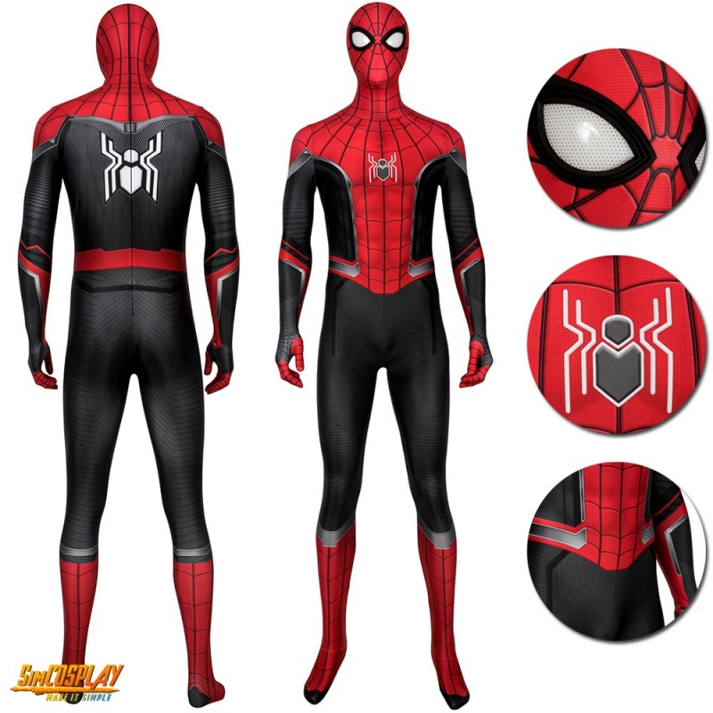 Spider Man Far From Home Peter Parker Cosplay Costumes Deluxe Ver 2