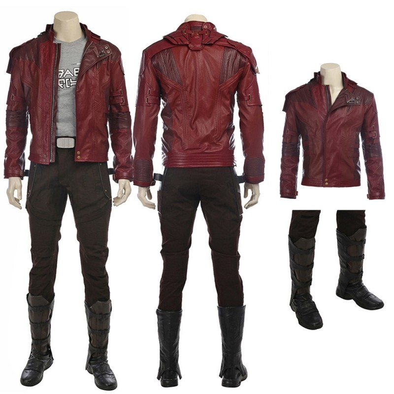 Guardians of the Galaxy Star Lord Peter Quill Cosplay Costume Jacket Men Outfit