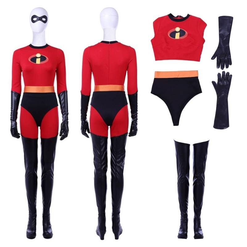 The Incredibles Elastgirl Helen Parr Cosplay Costume New