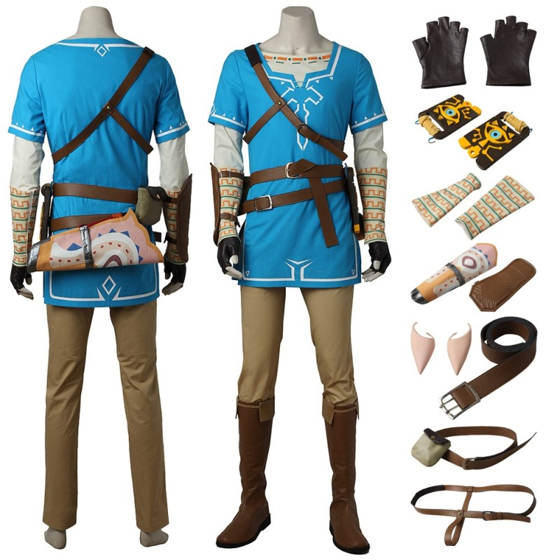 The Legend Of Zelda Breath Of The Wild Link Blue Tunic