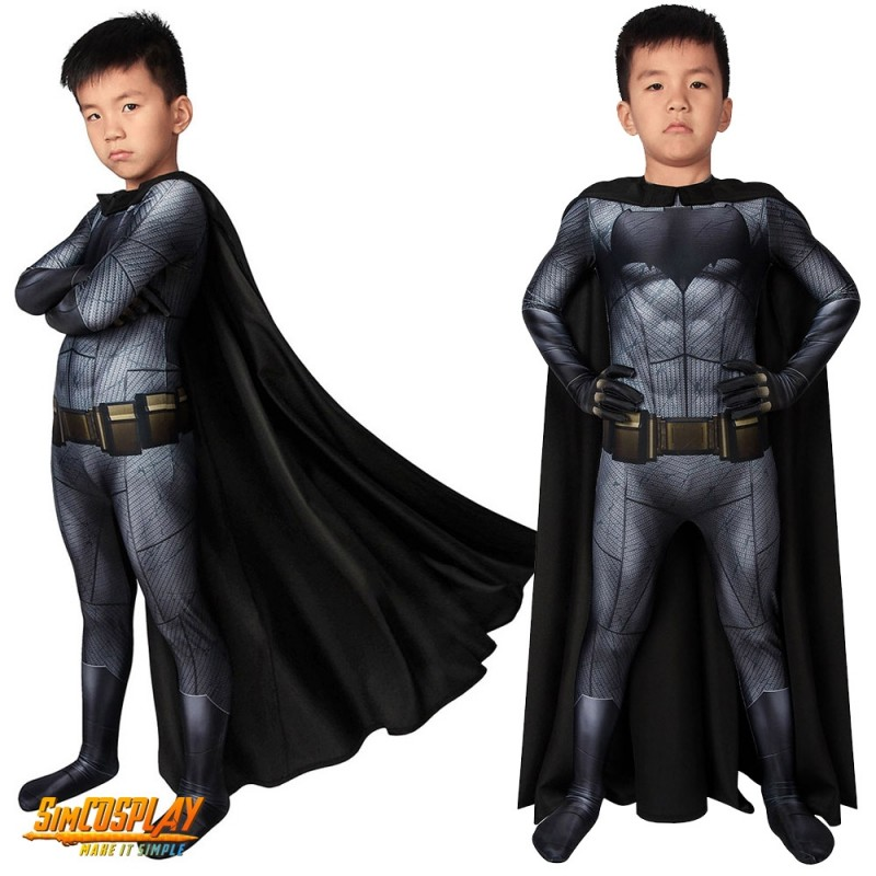 Kids Batman Cosplay Costume Spandex Suit With Cloak For ...