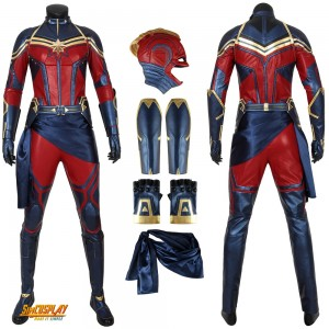 Captain Marvel Cosplay Costumes With Different Types Of Designs Simcosplay Buy captain marvel halloween costumes, cheap captain marvel cosplay costumes low price, just choose your favorite superhero captain marvel product name: captain marvel cosplay costumes with