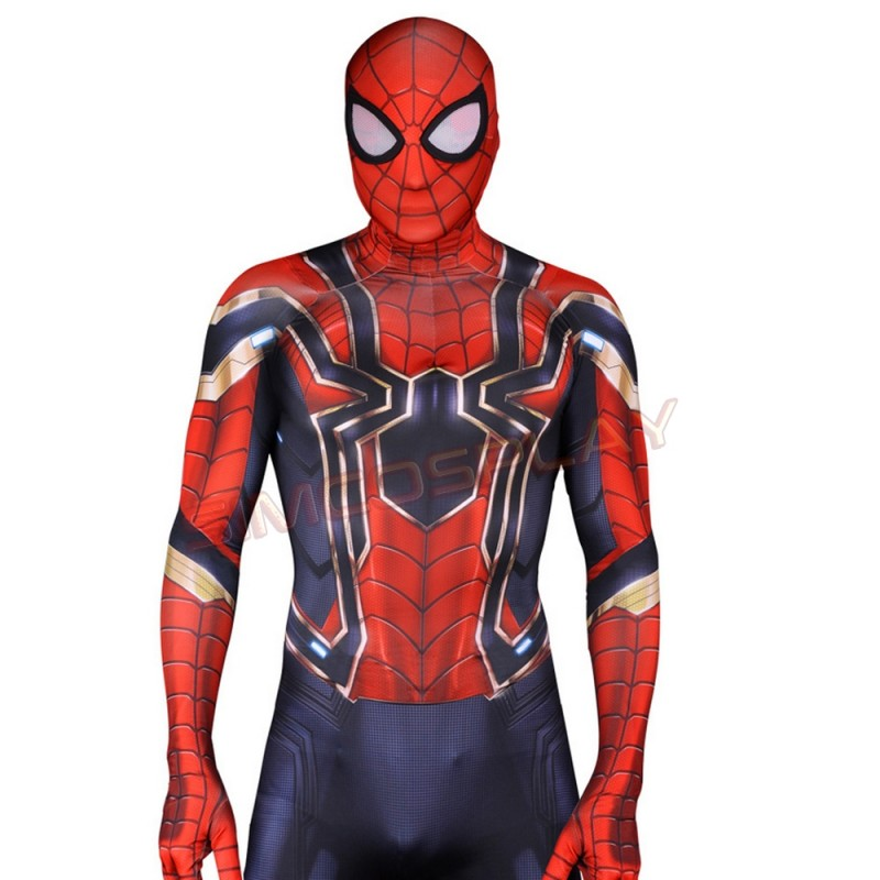 Avengers Infinity War Peter Parker Spider-Man Cosplay Costume 3D Printed
