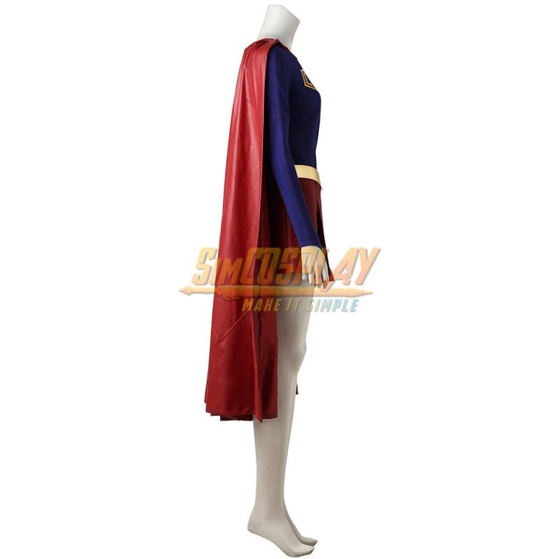 Marvel Heroes Supergirl Cosplay Costume Cloak