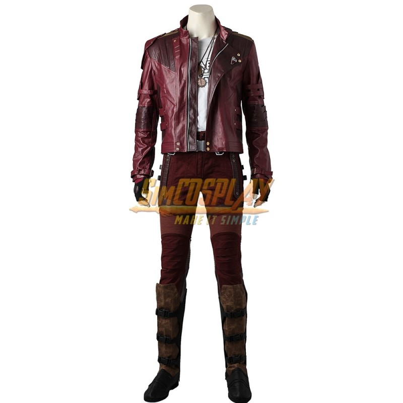 New Vol 2 Star Lord Peter Quill Cosplay Shoes Leather Mens Boots Free Shipping