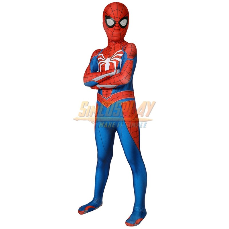 PS4 Advanced Spider-Man Cosplay Costume Spiderman Jumpsuit  For Adult /& Kids