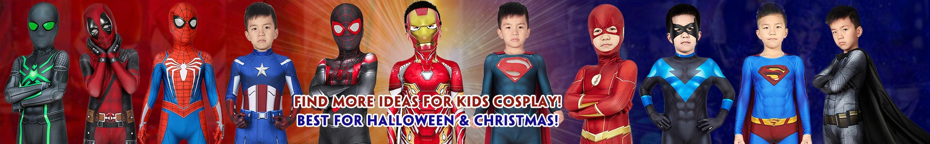 kids cosplay costumes and suits